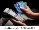 color image of a pos and credit ... | Shutterstock . vector #388569307