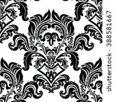 vector floral baroque ornament... | Shutterstock .eps vector #388581667