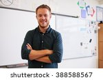 portrait of confident caucasian ... | Shutterstock . vector #388588567
