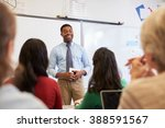 male teacher in front of... | Shutterstock . vector #388591567
