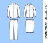 blank men's and women's... | Shutterstock .eps vector #388603447