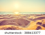 beautiful beach sand and sea at ... | Shutterstock . vector #388613377