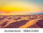 beautiful beach sand and sea at ... | Shutterstock . vector #388613383