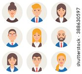 set of avatars modern vector... | Shutterstock .eps vector #388630597