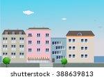 day urban landscape. seaside... | Shutterstock .eps vector #388639813