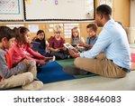 Elementary School Class Sittin...