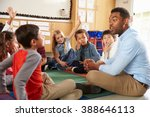 elementary school kids and... | Shutterstock . vector #388646113