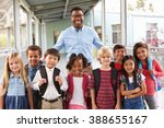 portrait of elementary school... | Shutterstock . vector #388655167
