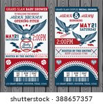 set of vintage baseball tickets | Shutterstock .eps vector #388657357