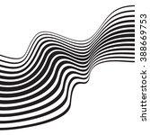 optical art opart striped wavy... | Shutterstock .eps vector #388669753