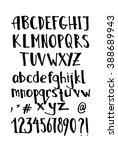 vector alphabet. brush pen... | Shutterstock .eps vector #388689943