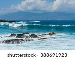 Blue Waves And Rocky Shore  ...