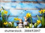 Art Easter Holidays Background...