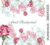 vintage floral vector... | Shutterstock .eps vector #388693333