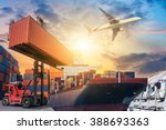 ship for container with working ... | Shutterstock . vector #388693363