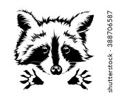 funny and touching raccoon... | Shutterstock .eps vector #388706587