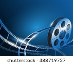 illustration of a film stripe... | Shutterstock .eps vector #388719727