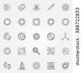 virus icons set   vector... | Shutterstock .eps vector #388722853