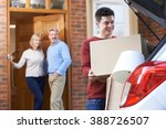 adult son moving out of parent... | Shutterstock . vector #388726507