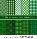 green tartan plaid pattern...   Shutterstock .eps vector #388734457