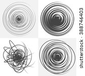 scribble. set of four abstract... | Shutterstock .eps vector #388746403