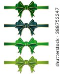 Set Of Green Bows Isolated On...