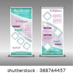 roll up banner abstract... | Shutterstock .eps vector #388764457