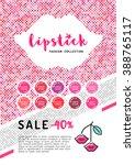 beauty makeup  lipstick... | Shutterstock .eps vector #388765117