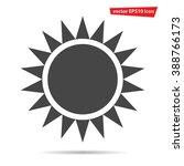 gray sun icon isolated on...