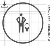 location symbol  businessman