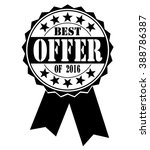 best offer of 2016  icon on a... | Shutterstock .eps vector #388786387
