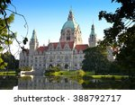 Stock photo new town hall building rathaus in hannover germany 388792717
