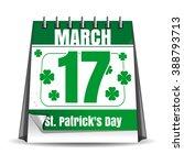 Calendar With Festive Date. 17...