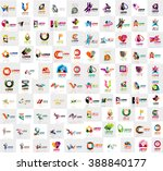 mega collection of geometrical... | Shutterstock .eps vector #388840177