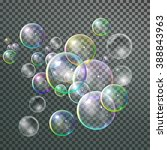 set colorful bubble in vector.... | Shutterstock .eps vector #388843963