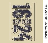 new york brooklyn typography... | Shutterstock .eps vector #388855153