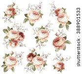 rose flower illustration  | Shutterstock .eps vector #388901533