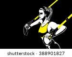 sport woman doing upper body...   Shutterstock .eps vector #388901827