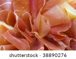 Beautiful sliced food arrangement close-up photo - stock photo