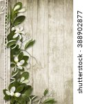 vintage background with spring... | Shutterstock . vector #388902877