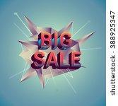 big sale discount  vector... | Shutterstock .eps vector #388925347