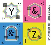 colorful line capital letters y ...