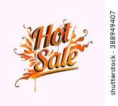 hot sale discount vector design ... | Shutterstock .eps vector #388949407