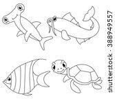 Underwater Sea Animals Colorin...