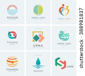 logo collection. vector logo... | Shutterstock .eps vector #388981837