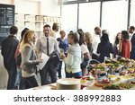 diversity people party brunch... | Shutterstock . vector #388992883