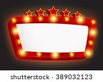 retro light frame with star | Shutterstock . vector #389032123