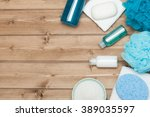 spa kit. top view. shampoo ... | Shutterstock . vector #389035597