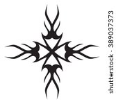 tribal tattoo design  vector... | Shutterstock .eps vector #389037373