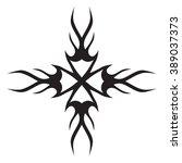 tattoo tribal vector designs.... | Shutterstock .eps vector #389037373
